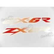 Adesivo Emblema Kawasaki Zx-6r Par Zx6r13