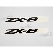 Adesivo Emblema Kawasaki Zx-6r Par Zx6r1