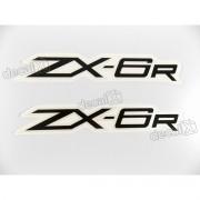 Adesivo Emblema Kawasaki Zx-6r Par Zx6r2