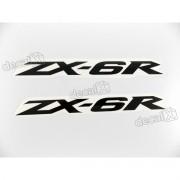 Adesivo Emblema Kawasaki Zx-6r Par Zx6r5