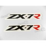 Adesivo Emblema Kawasaki Zx-7r Par Zx7ra