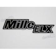 Adesivo Emblema Mille Elx Fiat Resinado