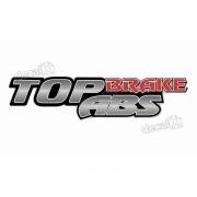 Adesivo Emblema Resinado Mercedes Top Brake Abs Cm105 Decalx