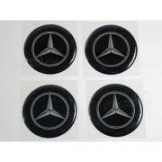 Adesivo Emblema Resinado Roda Mercedes 75mm Cl6 Decalx