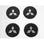 Adesivo Emblema Resinado Roda Mitsubishi 51mm Cl1