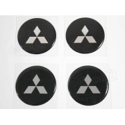Adesivo Emblema Resinado Roda Mitsubishi 55mm Cl2
