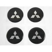 Adesivo Emblema Resinado Roda Mitsubishi 58mm Cl3