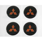 Adesivo Emblema Resinado Roda Mitsubishi 70mm
