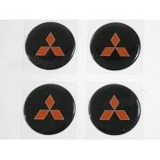 Adesivo Emblema Resinado Roda Mitsubishi 90mm