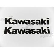 Adesivo Emblema Tanque Kawasaki Preto Par Prt02
