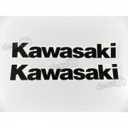 Adesivo Emblema Tanque Kawasaki Preto Par Prt04