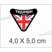 Adesivo Escudo Triumph Resinado 4x5 Cm Decalx