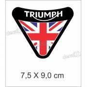 Adesivo Escudo Triumph Resinado 7,5x9,0 Cms Decalx