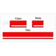 Adesivo Faixa Capo Teto Mala Fiat Uno Unoc21