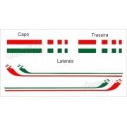 Adesivo Faixa Lateral Capo Mala Fiat Punto Italia Pntof23