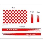 Adesivo Faixa Lateral Capo Teto Mala Fiat Uno Abarth Unoc36