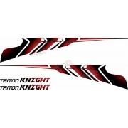 Adesivo Faixa Lateral Mitsubishi L200 Triton Knight L2012