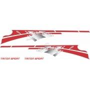 Adesivo Faixa Lateral Mitsubishi L200 Triton Sport L2011