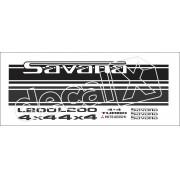 Adesivo Faixa Mitsubishi L200 Savana 4x4