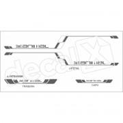 Adesivo Faixas Mitsubishi L200 Animal La001