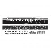 Adesivo Faixas Mitsubishi L200 Savana 4x4 Lfs002