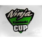 Adesivo Kawasaki Ninja Cup Resinado 10x9 Cms re16