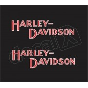 Adesivo Tanque Harley Davidson Custom adt002