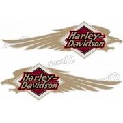 Adesivo Tanque Harley Davidson Custom adt39