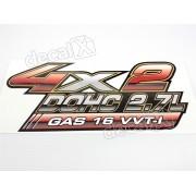 Adesivo Toyota Hilux 4x2 Dohc 2.7l Gas 16 Vvti Decalx