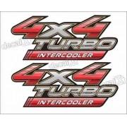 Adesivo Toyota Hilux 4x4 Turbo Intercooler Par 2009 A 2012