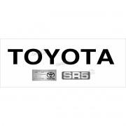 Adesivo Toyota Hilux Tampa Traseira + Sr5 + Etiqueta Kit04