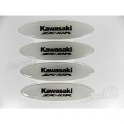 Adesivos Capacete Kawasaki NINJA ZX-10r Resinados Refletivo