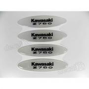 Adesivos Capacete Kawasaki Z750 Resinados Refletivo