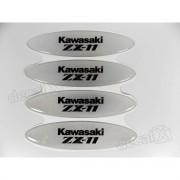 Adesivos Capacete Kawasaki Zx-11 Resinados Refletivo