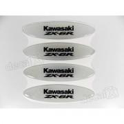 Adesivos Capacete Kawasaki Zx-6r Resinados Refletivo