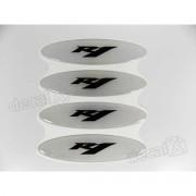 Adesivos Capacete Yamaha R1 Resinados Refletivo 2,4x10 Cms
