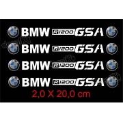 Adesivos Centro Roda Refletivo Moto Bmw R1200 Gsa R10 Decalx