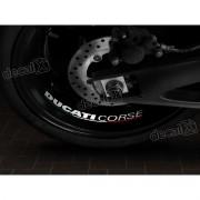 Adesivos Centro Roda Refletivo Moto Ducati Corse Rd2 Decalx