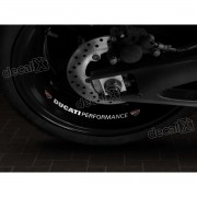 Adesivos Centro Roda Refletivo Moto Ducati Performance Rd1