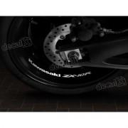 Adesivos Centro Roda Refletivo Moto Kawasaki NINJA ZX-10r Rd14