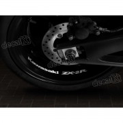 Adesivos Centro Roda Refletivo Moto Kawasaki NINJA ZX-2r Rd7