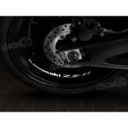 Adesivos Centro Roda Refletivo Moto Kawasaki Zx-11 Rd12