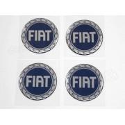 Adesivos Emblema Resinado Roda Fiat 55mm Cl3