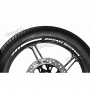Adesivos Friso Refletivo Roda Moto Ducati 1198 Branco