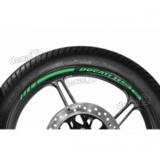 Adesivos Friso Refletivo Roda Moto Ducati 1198 Verde