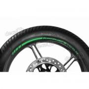 Adesivos Friso Refletivo Roda Moto Kawasaki Z1000 Verde