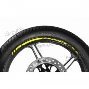 Adesivos Friso Refletivo Roda Moto Kawasaki Z750 Amarelo