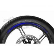 Adesivos Friso Refletivo Roda Moto Kawasaki Z750 Azul