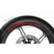 Adesivos Friso Refletivo Roda Moto Kawasaki Z750 Vermelho