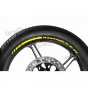 Adesivos Friso Refletivo Roda Moto Kawasaki Zx-11 Amarelo